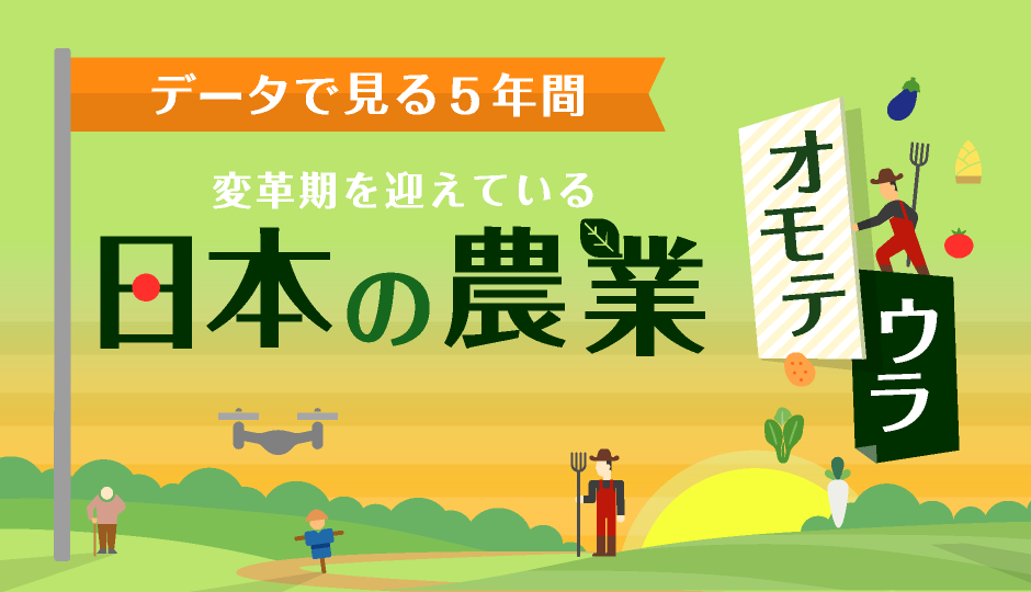 日本の農業、5年でどう変わった?[インフォグラフィック]