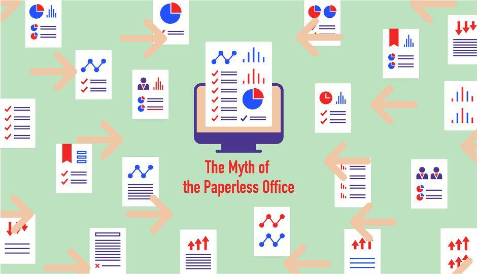 「ペーパーレス・オフィスの神話」を打ち破れ!日本でペーパーレスはどのくらい進んでいるのか