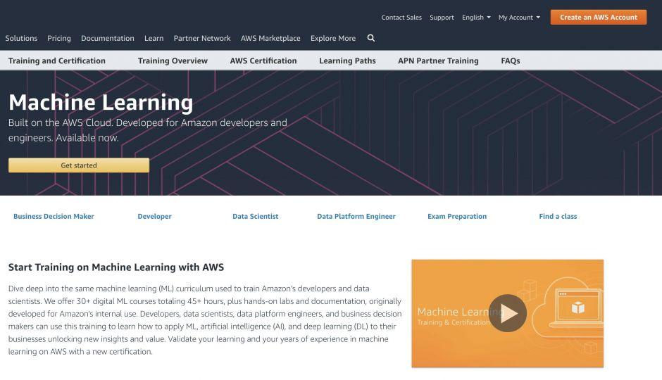 AmazonのMachine Learning University(機械学習大学)- 社内のエンジニア研修で使われる機械学習コースを無料公開へ!