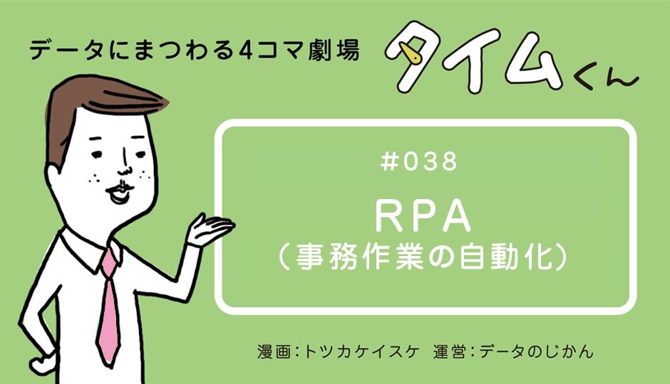 【タイムくん – 第38話:RPA(事務作業の自動化)】