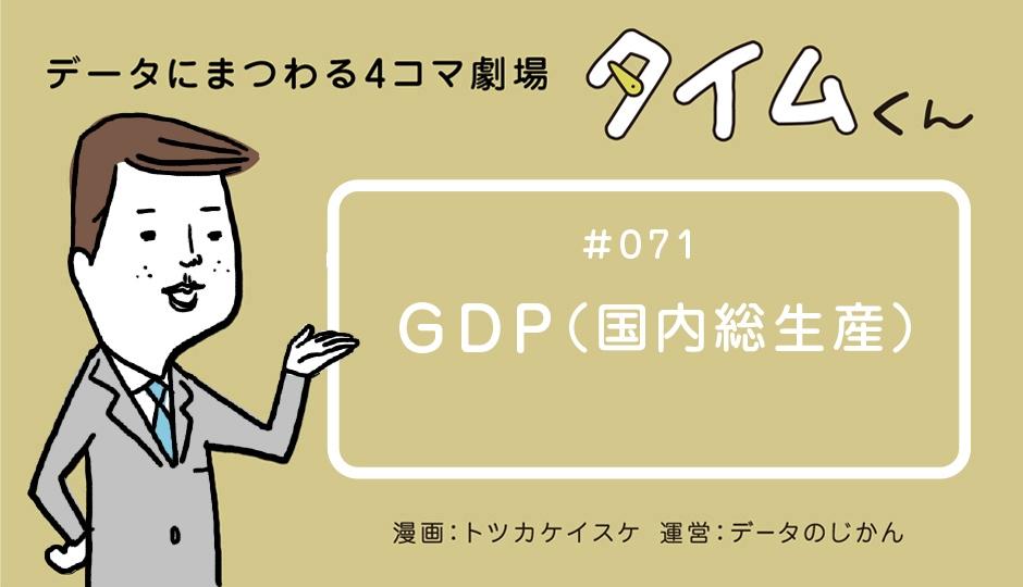 【タイムくん – 第71話:GDP(国内総生産)】