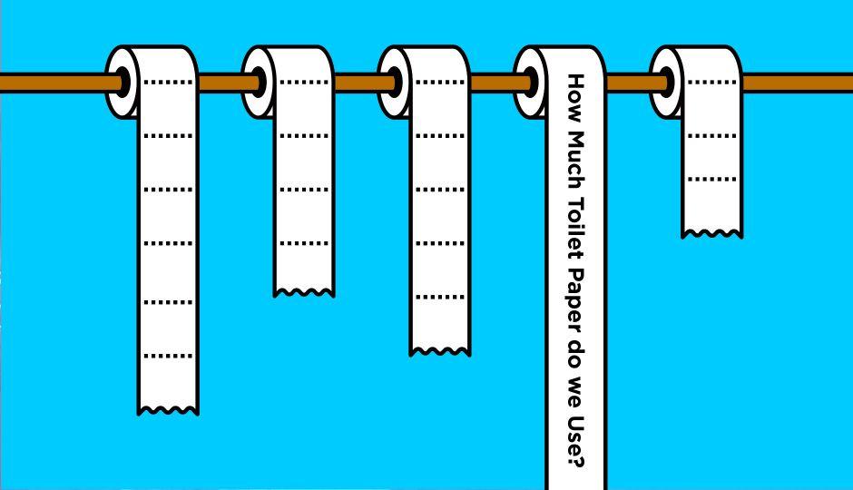 毎日何気なく使っているトイレットペーパーに関するデータをご紹介。平均使用量から年間使用量まで。