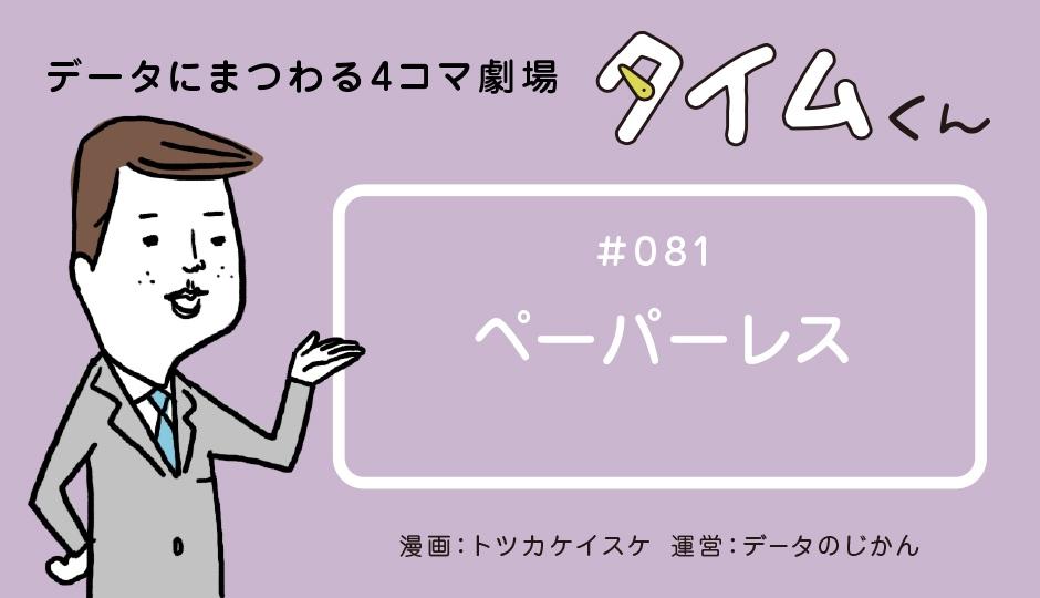 【タイムくん – 第81話:ペーパーレス】