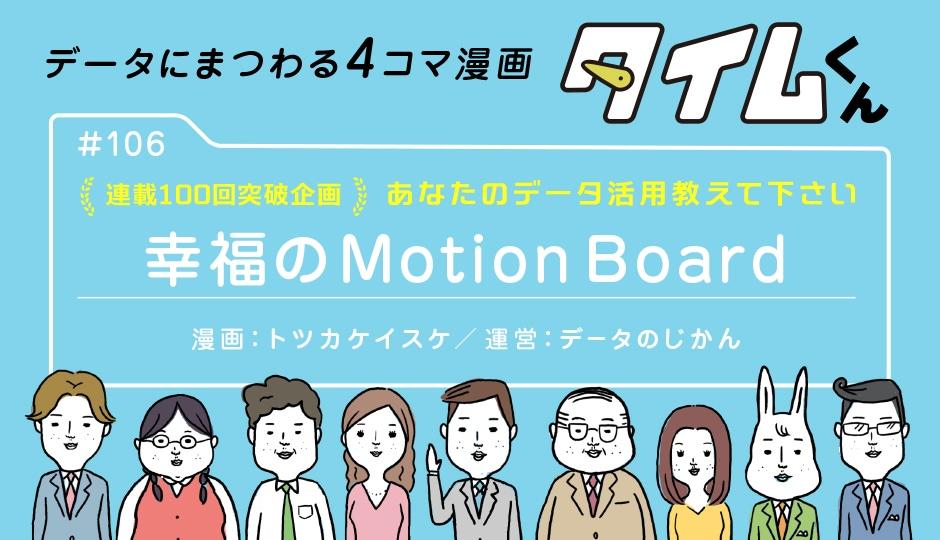 【タイムくん – 第106話:幸福のMotionBoard】